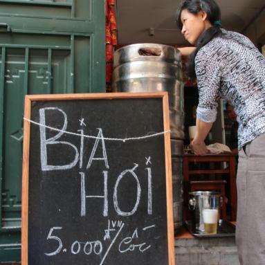 """Fresh Beer"" (roughly 25 cents) Hanoi, Vietnam"