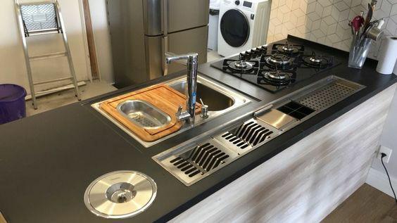 escolher a cuba e a torneira da cozinha