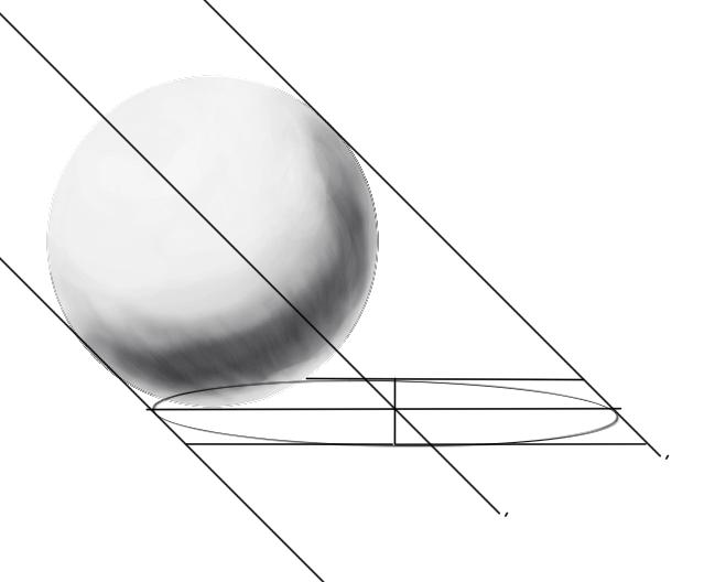 レイヤーの範囲選択からの球体の陰15
