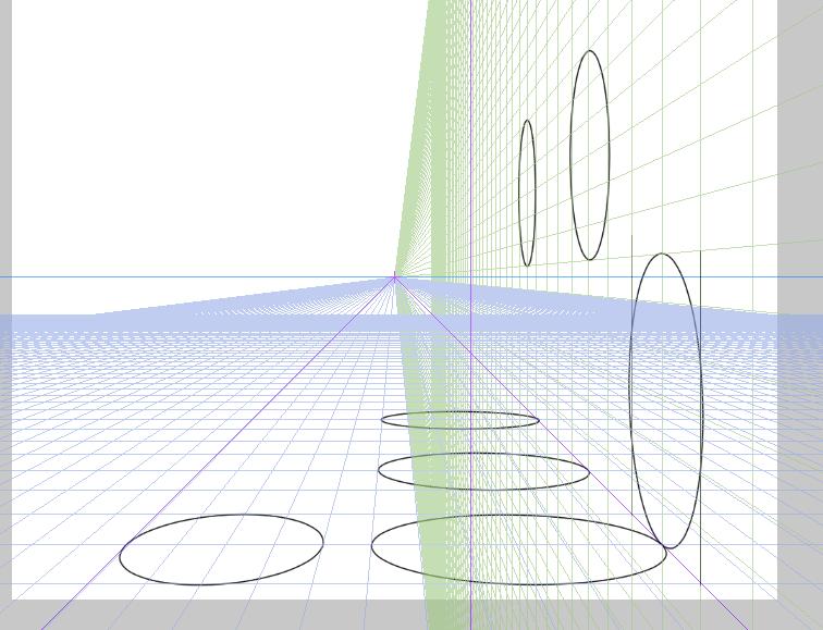 クリスタ 楕円 パース6