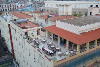 Rooftop dining is quite popular