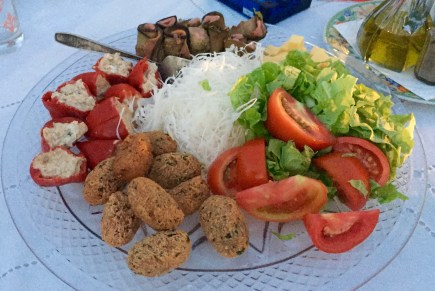 Family style lunch platter
