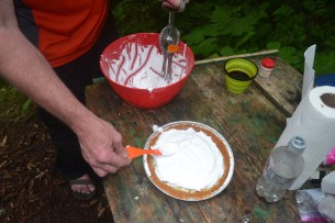 Topping the pie