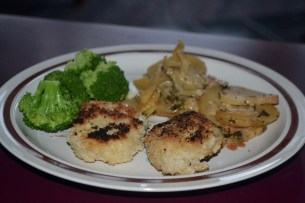 Halibut with broccoli and potatoes a al savoyard