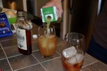 Adding pineapple juice