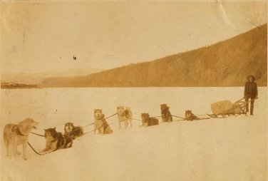 The mail run from Dawson to Eagle in 1900