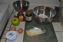 molasses and apple muffin ingredients