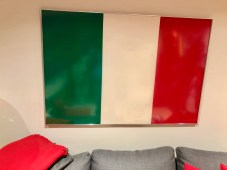The Italian flag hangs every day in our house