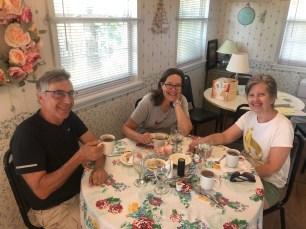 Enjoying a lovely breakfast, just before combat haiku broke out