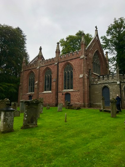 The cemetery at Cortachy Parish Church