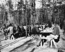 Meal time at Camp Roosevelt, just up the road. Photo courtesy of Oregon State University, public domain