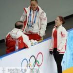 Е. Гедеванишвили и М. Гиоргобиани на Олимпиаде 2014 в Сочи.