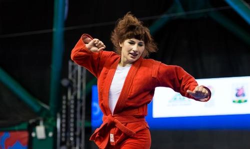 Победа и зажигательный танец грузинской самбистки Нино Одзелашвили
