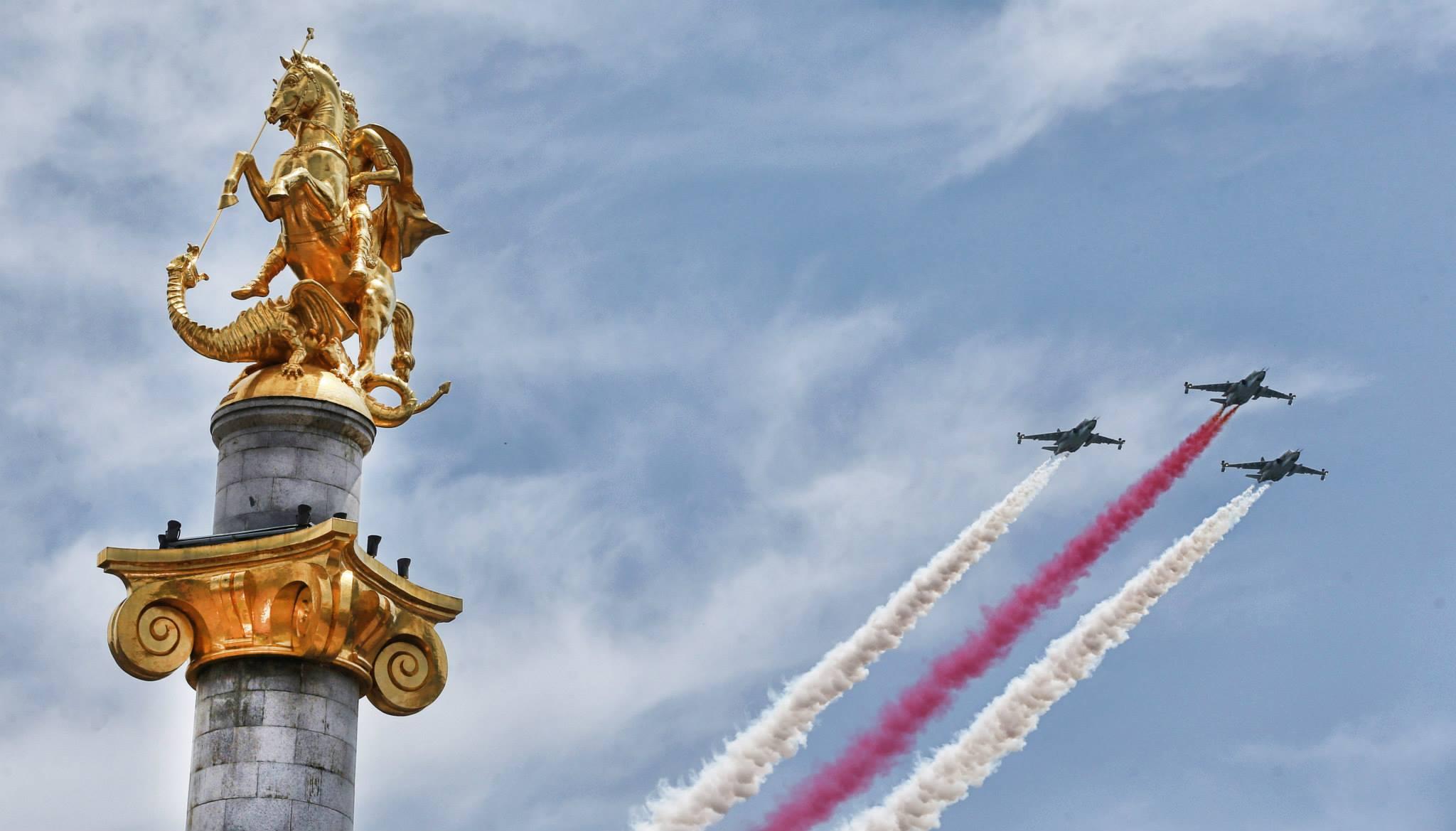 В Грузии празднуют 25-ую годовщину независимости страны.