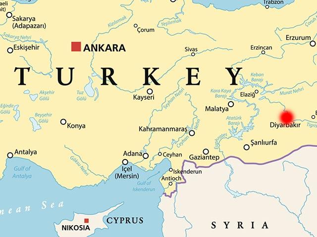 Взрыв в турецком Диярбакыре