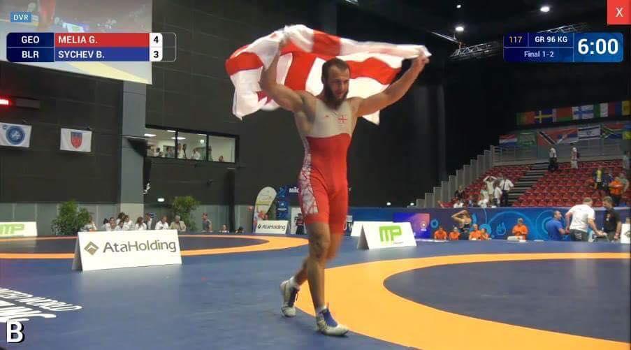Грузинский борец Георгий Мелия завоевал титул чемпиона мира