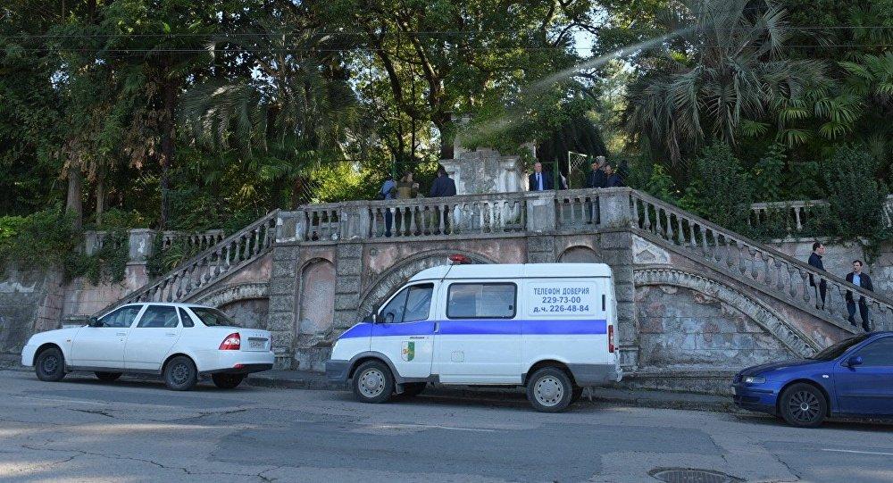 У телевидения Абхазии подорвался мужчина