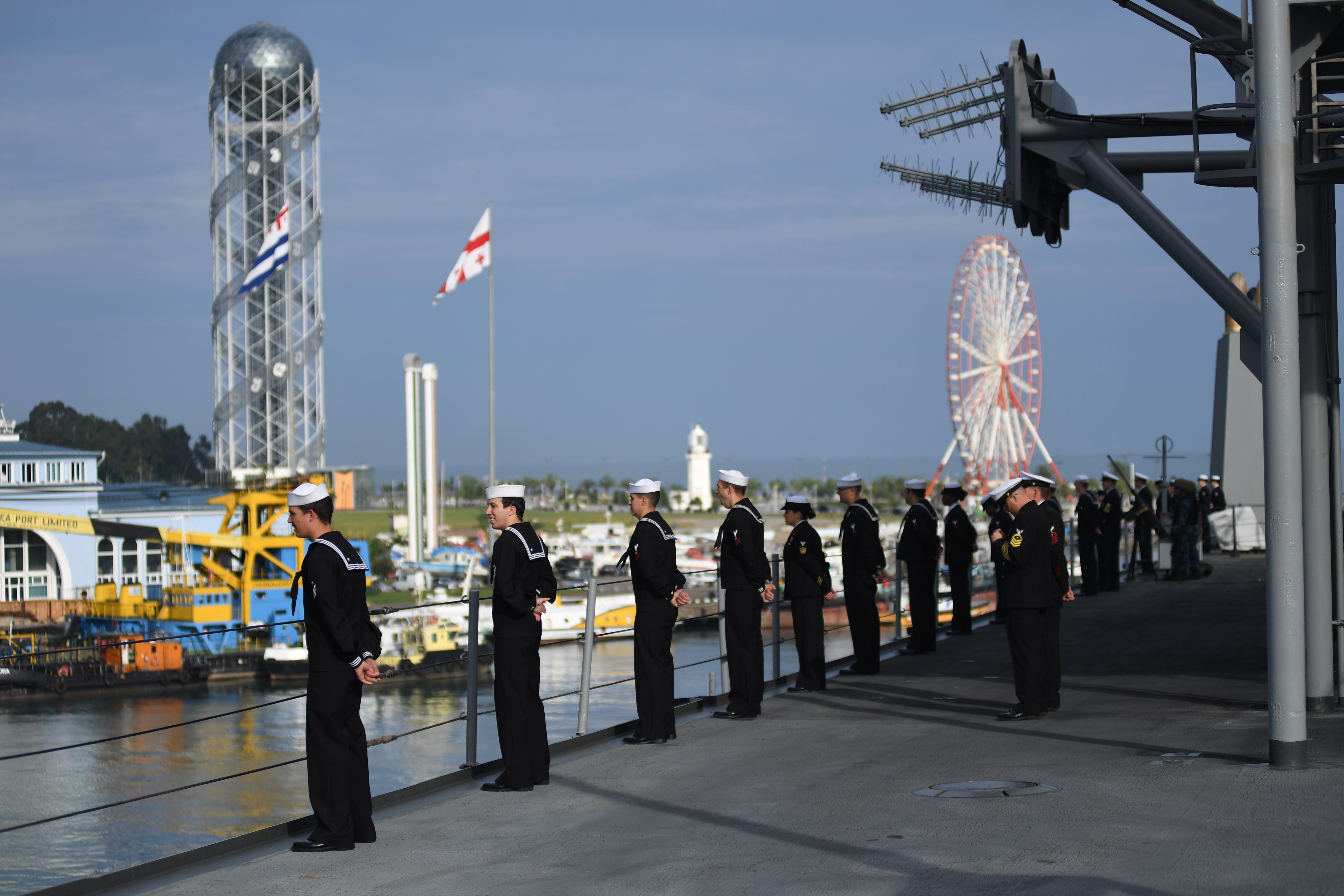 В Батуми прибыл флагманский корабль шестого флота ВМС США
