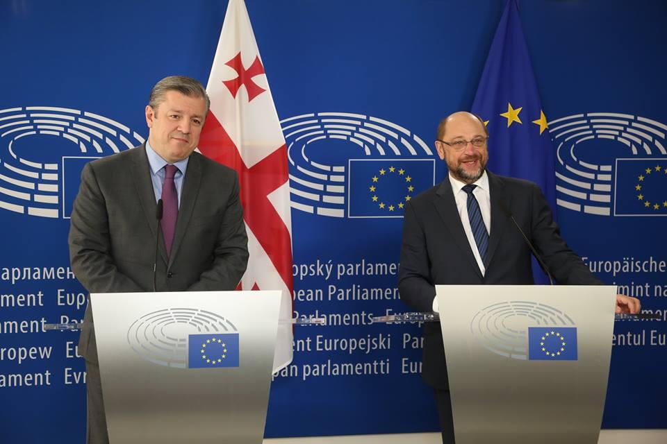Георгий Квирикашвили и Мартин Шульц обсудили вопрос либерализации визового режима