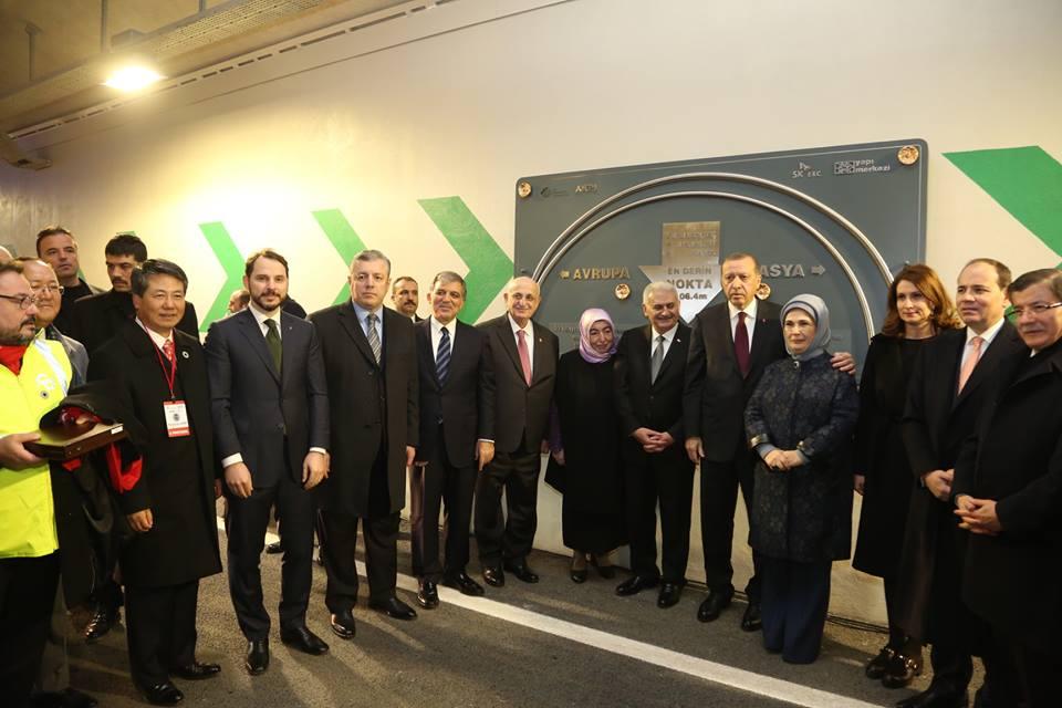 Премьер Грузии и президент Турции приняли участие в открытии Евразийского тоннеля