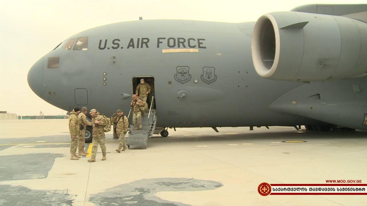 Усиленная рота пехотной бригады ВС Грузии прибыла в Афганистан