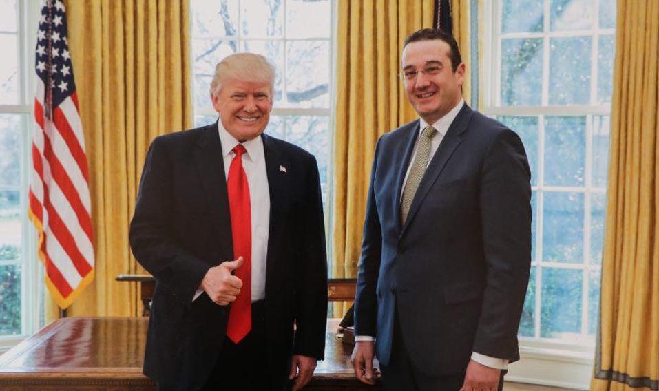 Дональд Трамп встретился с новым послом Грузии Давидом Бакрадзе