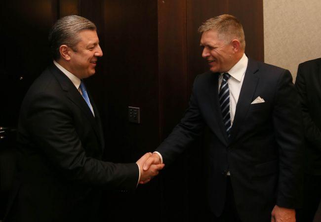 Премьеры Грузии и Словакии