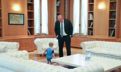 В гостях у президента Грузии побывал его маленький сын Темо
