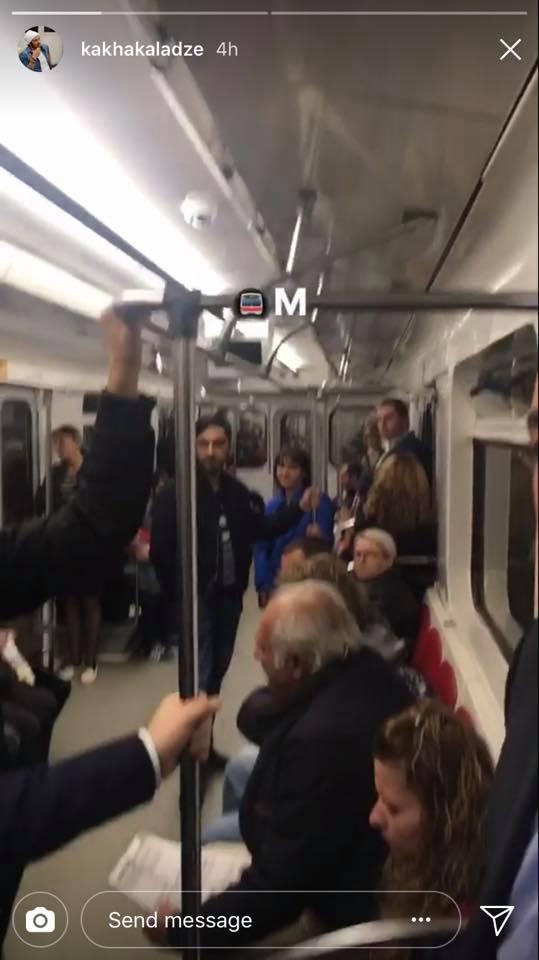 Мэр Тбилиси, Каха Каладзе в метро