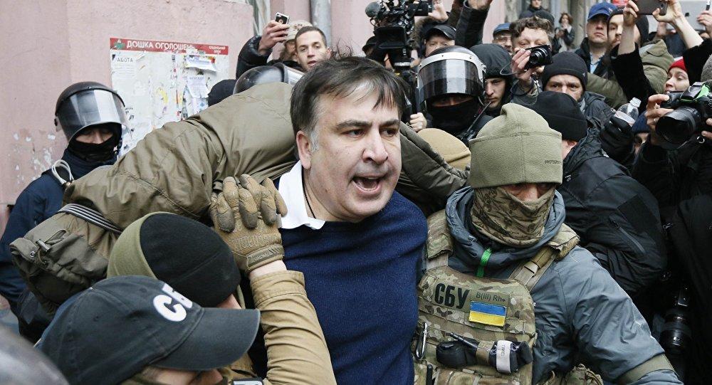 Михаил Саакашвили провел ночь в киевском СИЗО