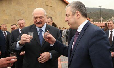 Президент Беларуси Александр Лукашенко с премьер-министром Грузии Георгием Квирикашвили / Фото: 1tv.ge