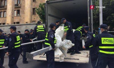 На проспекте Руставели арестованы девять человек