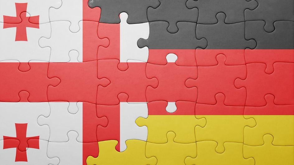Georgia Germany Flag #новости германия, Грузия, трудовые мигранты, трудоустройство