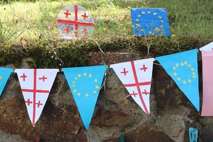 Georgia EU Flags 2 #новости Грузия-ЕС, евросоюз, Соглашение об ассоциации