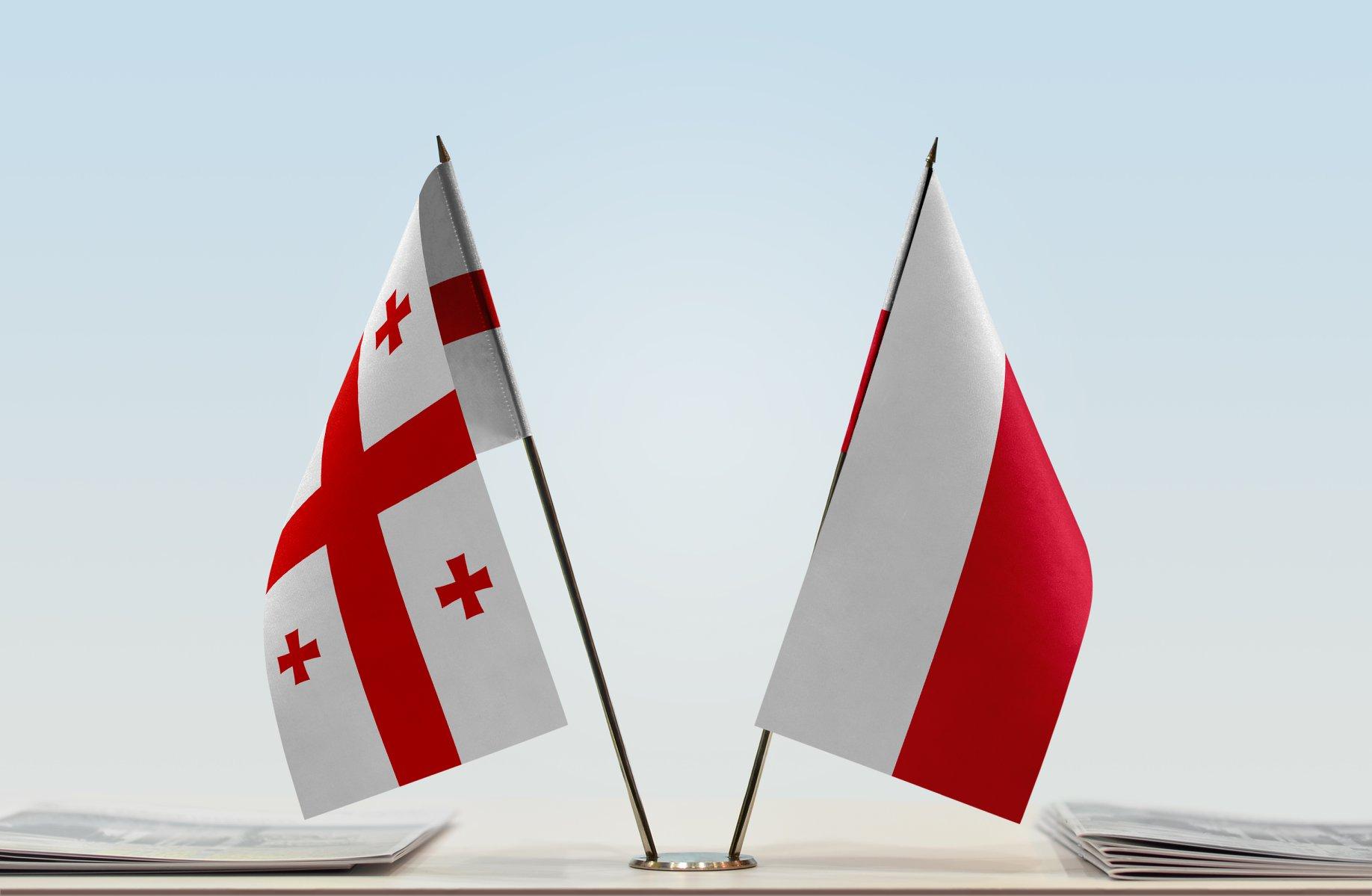 Georgia_Poland_Flags