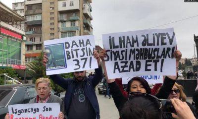 Полицейские не допустили акцию в защиту политзаключенных в Баку