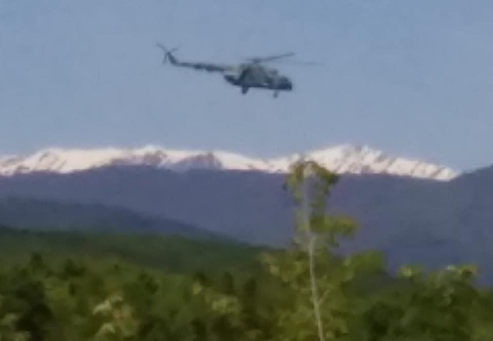 Над Грузией зафиксирован российский военный вертолет