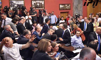 Мелия пришел в парламент, где его должны лишить неприкосновенности