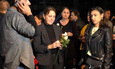 В Тбилиси почтили память убитого правозащитника Виталия Сафарова Фото: СОВА