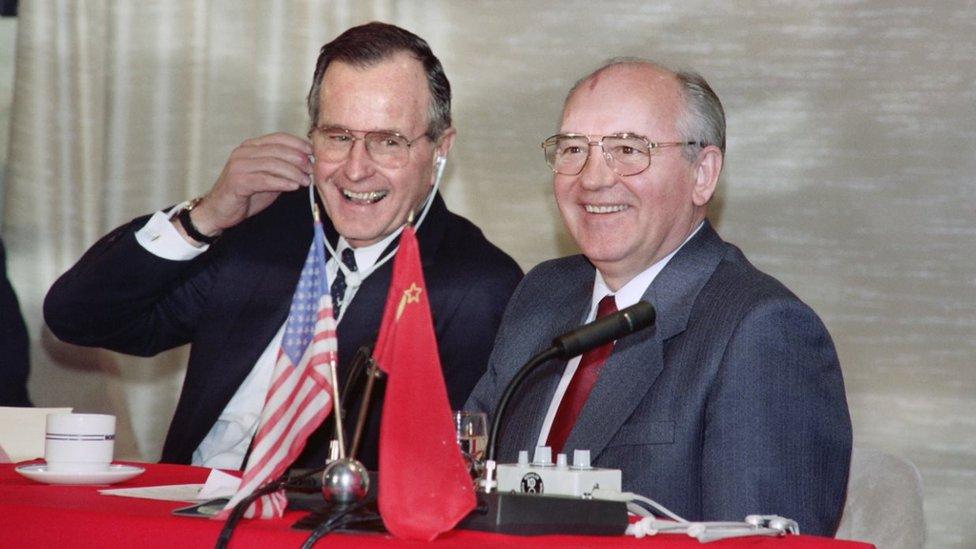 Буш и Горбачев