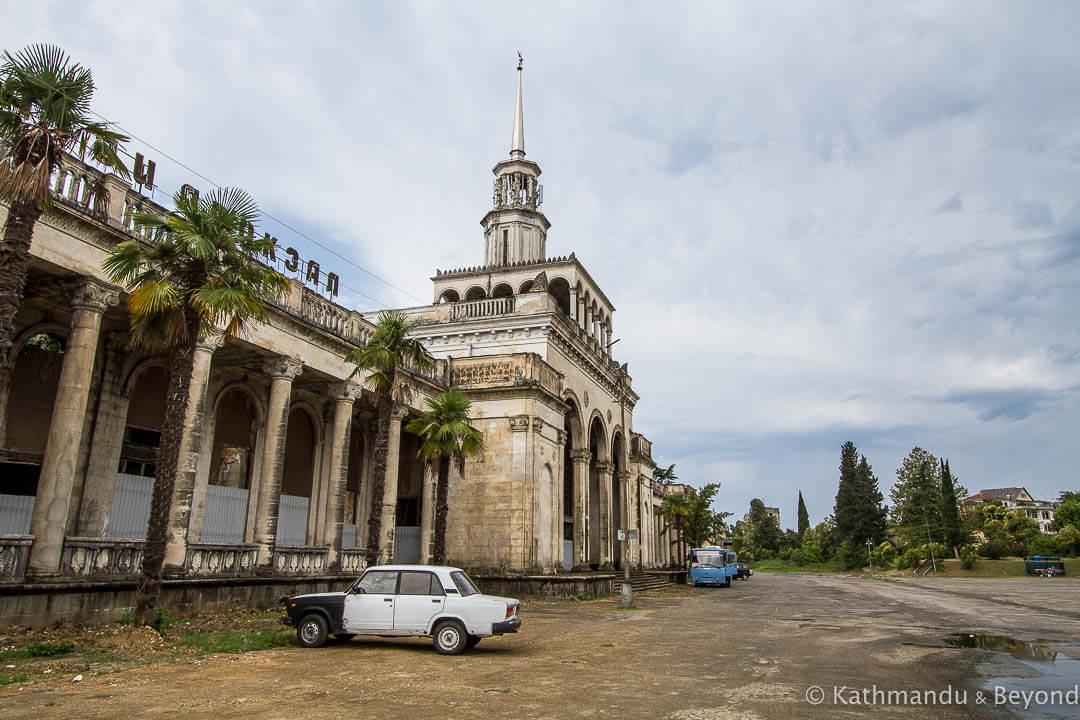 Sokhumi Railway Station Sukhumi Abkhazia 4 #новости Абхазия. Грузия, Аслан Бжания, оккупация