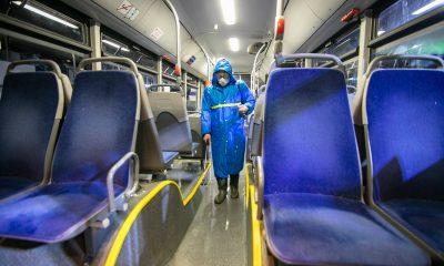 Мэрия Тбилиси проводит дезинфекцию общественного транспорта