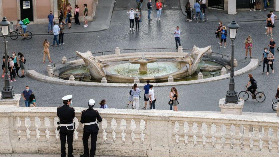 Вид центра Рима 17 мая