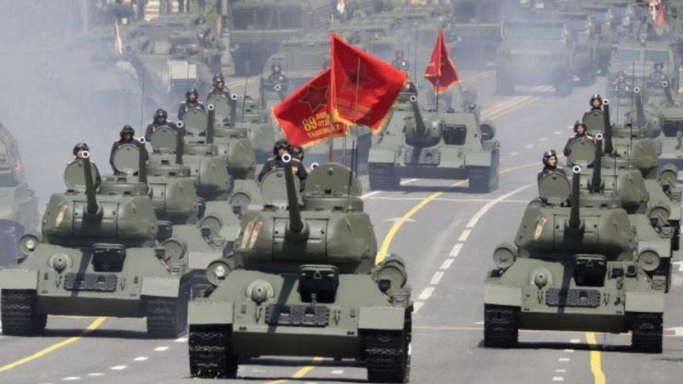 Репетиция парада Победы 20 июня