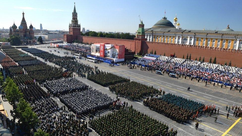 Во время парада Победы в Москве