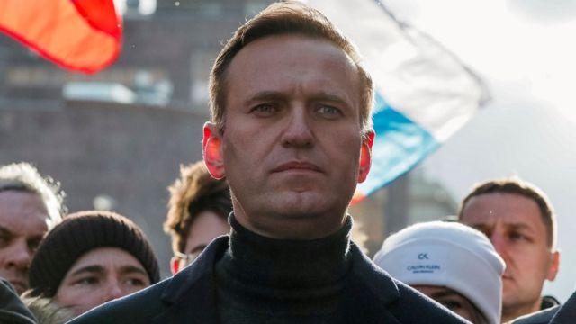 Алексей Навальный на демонстрации в годовщину убийства Бориса Немцова