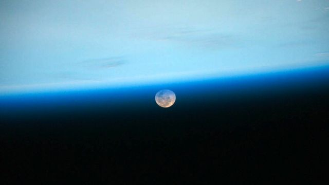 The Moon from the International Space Station (c) NASA