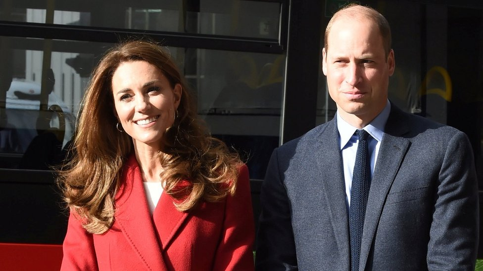 """Britain""""s Prince William and Catherine, Duchess of Cambridge visit the launch of the Hold Still campaign at Waterloo Station"""