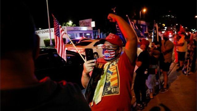 Сторонник Трампа в Майами