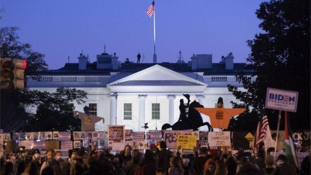 Белый дом в ночь выборов